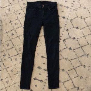 J Brand dark wash super skinny jeans, size 28